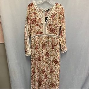 Lucca Los Angeles Floral Dress, NWT, Size M